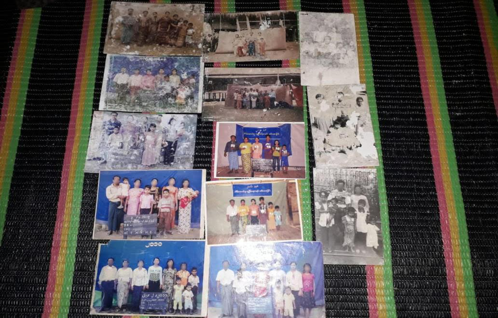 Photo 1 - A family's collection of SweTinSit photos spanning several years from Buthidaung Township
